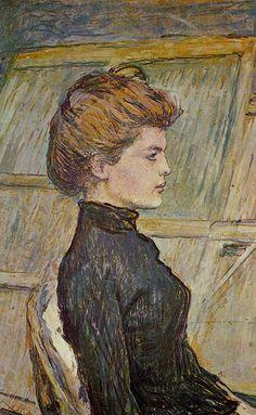 Portrait of Helen (detail)  Henri de Toulouse-Lautrec