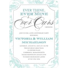 """""""Ever Thine, Ever Mine, Ever Ours"""" ~ Anniversary Party Invite from Tiny Prints"""