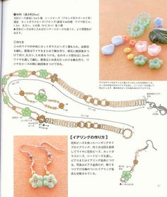 flower earring instructions and choker instructions