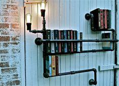 pvc pipe book shelf.