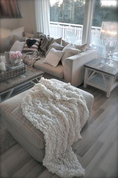 Replace the grey with light gold and have beige couches?