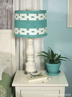 This site Crafty Nest has a lot of great projects like this one (how to paint a lamp shade) that are simple diy projects :)
