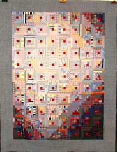 Log cabin with light and shadow..T-Forty Years of Plaids & Stripes by Linda Rotz Miller Quilts & Quilt Tops, via Flickr