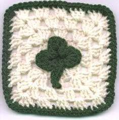 St Patrick's Day Granny Square Free Crochet Pattern