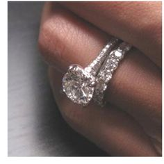 my dream ring, thin simple band with very rounded diamond