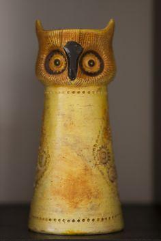 Rosenthal Netter Owl Vase - Bitossi owl  Pinned by www.myowlbarn.com