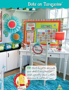 Dots on Turquoise classroom theme from Creative Teaching Press