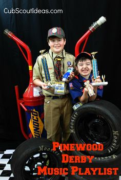 Need some music for your Pinewood Derby? Here's a fun playlist for you!