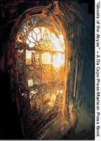 """Titanic's lead glass windows still intact after 100 years underwater. """"Not since April 14th, 1912 had human eyes seen light pouring through these beautiful windows"""" from Ghosts of the Abyss (2003)"""