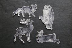 Winter Temporary #Tattoos. $12 by Whitney Jane on @Etsy #owl #deer #rabbit #fox