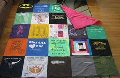 DIY Basic T-SHIRT QUILT Tutorial- Part 1 - Totally Stitchin  Easy step by step t-shirt quilt, even I could pull this one off!