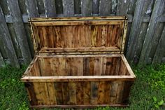 chest made from recycled oak pallets by jeffpmiller on Etsy, $425.00