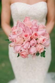 Round pink rose bouquet: http://www.stylemepretty.com/destination-weddings/2014/09/15/elegant-punta-cana-wedding-at-barcelo-bavaro-palace-deluxe-hotel/ | Photography: Jen Jar - http://www.jenjarphotography.com/