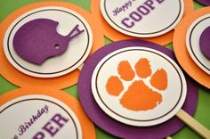clemson cupcake toppers
