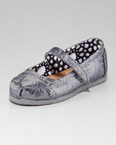 TOMS Glitter Mary Janes