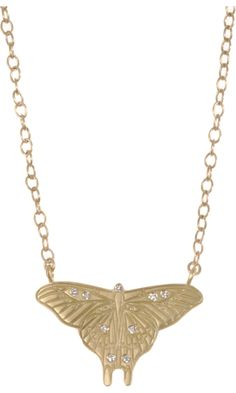 Me Gold & Diamond Large Butterfly Silhouette Necklace