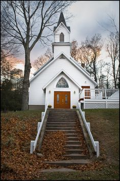 White church in the country