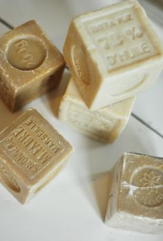 French Soaps . . . remove stains, french soap, vintage chic, apothecary jars, decorating ideas, natural soaps, bathrooms, cubes, diy gifts