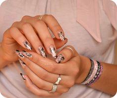 watercolor painting nail art