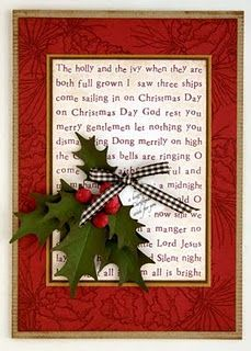 Good idea, could put a Christmas hymn in the center. Or could put the story of the Holly, or put a candy cane and do that story, ect.
