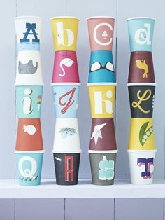 Vintage A-Z Paper Cups NEW - Party