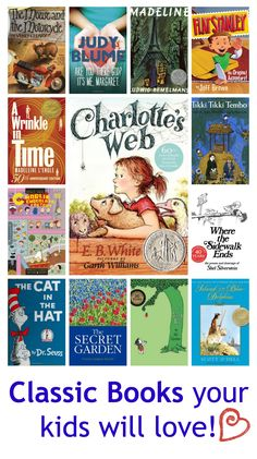 14 classic books for the kids!  Brings back lots of great memories!