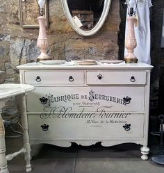 The wax paper transfer~ This is nice. I have painted roses onto hardwood floor~it looked amazing~ esp. after the sealer. I have a dresser like this~ this is a good idea for it.