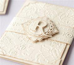 """Anna Griffin Wedding Card Invite - Cricut Shop Cuttlebug® A2 Swiss Dots Emboss Folder  Cricut Cuttlebug™ 5"""" x 7"""" Embossing Folder & Border, Poppy"""