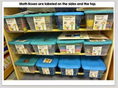 Set up ideas for Daily 3 Math