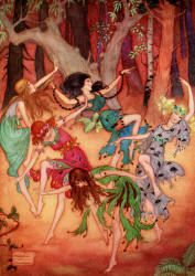 Bare Feet twinkled as they Danced - The Password to Fairyland by Elizabeth Southwart, 1920