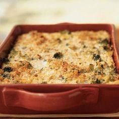 Broccoli and Three-Cheese Casserole and other casserole recipes for less than 300 calories