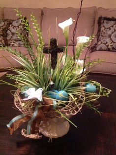 easter crafts, easter centerpiece