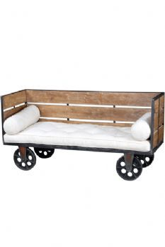 Industrial Factory Day Bed on Wheels