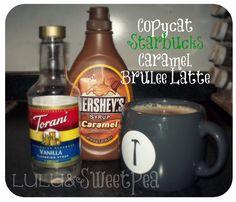 Lulu and Sweet Pea: Copycat Recipe: Starbucks Caramel Brulee Latte {Holiday Drink!}
