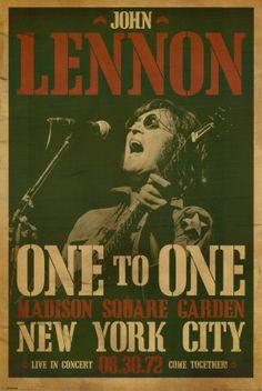 Great John Lennon Vintage Poster