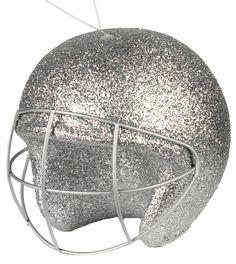 """4"""" Football helmet ornament - Silver #helmet #football #silver"""