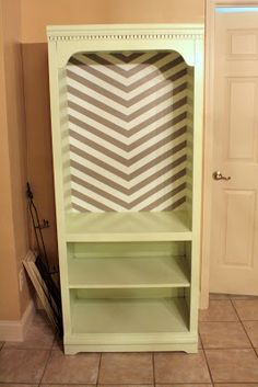 Pinterest and the Pauper!: How to Refinish Laminate Furniture. No sanding! chevron patterns, painting laminate, idea, craft, painting furniture, refinish lamin, lamin furnitur, diy furniture refinishing, chevron stripes