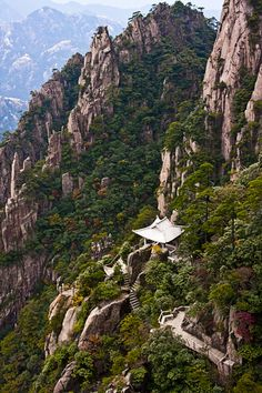 White Heron Pagoda - Huangshan, China