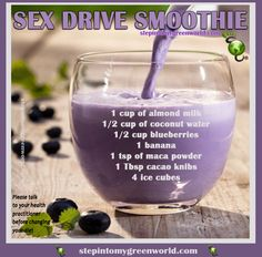 ☛ Are YOU getting ready for Valentine's Day?  This #smoothie recipe is packed with ingredients that will enhance your #libido, including an exotic ingredient called Peruvian maca root.  FOR ALL THE DETAILS: http://www.stepintomygreenworld.com/healthyliving/sex-drive-smoothie/ ✒ Share | Like | Re-pin | Comment  #StepIntoMyGreenWorld with #Love and #Gratitude  #STEPin2 #Empowerment #Hope #ConnectTheWorld #Health #Wellness #Food #Prevention #Sexdrive #ValentinesDay #Valentine #Recipe