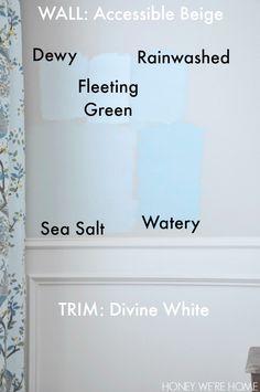 Sherwin Williams Blue Gray color comparisons
