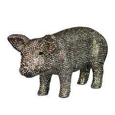 Rhinestone Piggy Bank.  Your favourite piggy banks: http://www.helpmetosave.com/2012/02/piggy-bank/