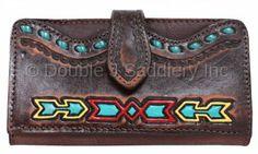 Southwest Arrowhead Ladies Wallet by Double J Saddlery.