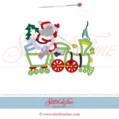 657 Christmas : Santa Train Applique 5x7