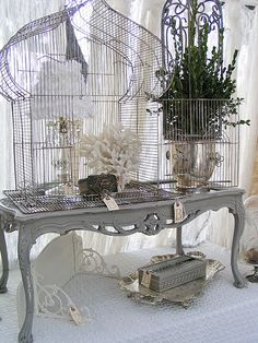 silver tray, birdhous, vintage chic, country roads, bird cage