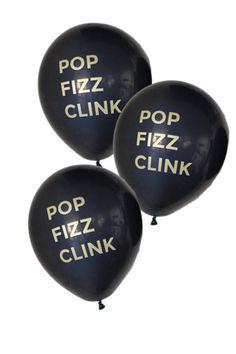 New Year's Eve Balloons #popfizzclink