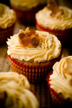 Apple Bacon Cheddar Cupcakes w/Mesquite Buttercream - these may walk a fine line between heaven and hell