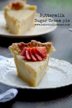Bakeaholic Mama: Buttermilk Sugar Cream Pie