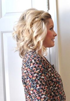 Bob haircut. Pulled back bangs are always a great way to style shorter hair, but twist them to add something extra. Combine the twist with a mixture of loose waves and beach texture and it's a recipe for [...]