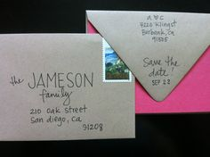 Creative Hand Addressed envelopes   Parties by letteringbyamy, $1.00 creativ hand, hand addressed envelopes, hand addressing envelopes, addressing wedding invitations, creative envelopes, address envelopes, address invitations, hand addressing invitations, parti