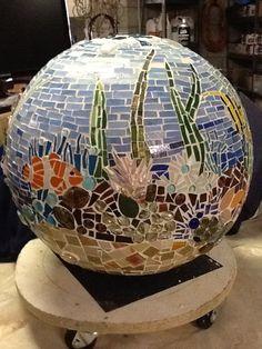Mosaic ball...underwater theme